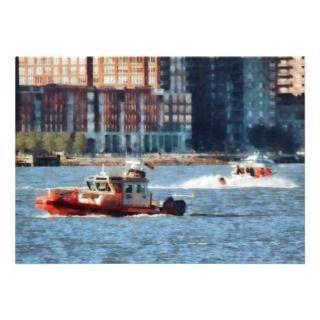 Fire Rescue Boat Hudson River Invitation