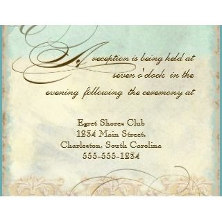 Great Egret Coastal Beach   Wedding Invitation invitation