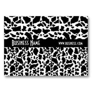 Card Black & White Style Animal Print 2 Business Cards