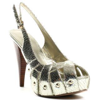 Money 2 Heel   Gold, Guess Footwear, $98.99,
