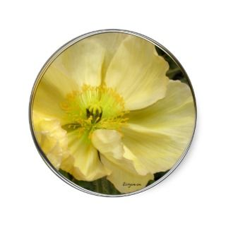 Yellow Wedding Flowers Invitation Seals Round Stickers