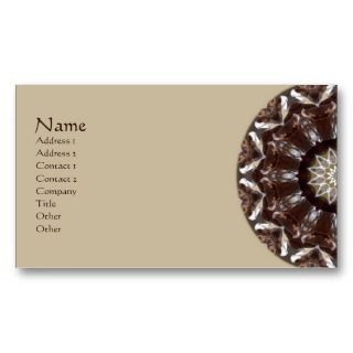 Pine Cone Kaleidoscope Business Card Template
