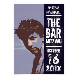 Rock Band Bar Mitzvah Invitation invitations by Lowschmaltz
