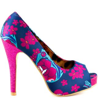 Iron Fists Multi Color Midnite Blk Peep Toe Plat   Blue for 59.99