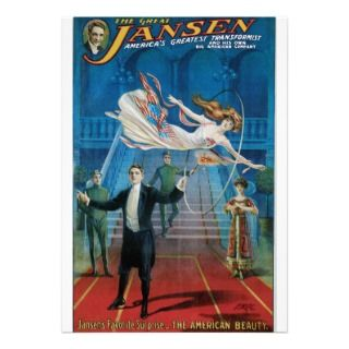 Vintage The Great Jansen Advertising Poster Personalized Announcements