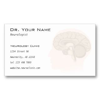 Neurologist or Psychologist Doctor Business Card
