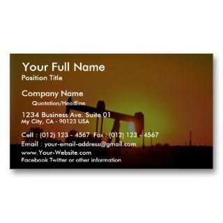 well pump at sunset, Illinois, U.S.A. Business Cards