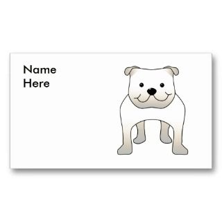 Bulldog. Cute Dog Cartoon. Business Card Templates