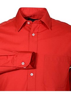 Double TWO Classic plain long sleeve shirt Red