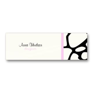 Print Black & White Giraffe Pink Ribbon Business Card