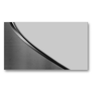 Silver Metal Curve Business Cards