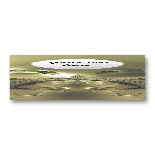 Metallic Flower Custom Bookmark Business Card Template