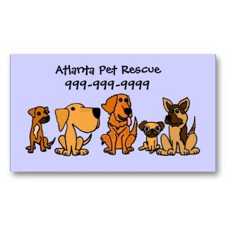 AK  Fun Puppy Dogs Cartoon Business Cards