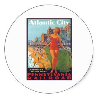 Atlantic City New Jersey ~ Pennsylvania Railroad Sticker
