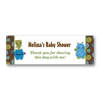 Boo Monsters Baby Shower Favor Tags PAB Business Card