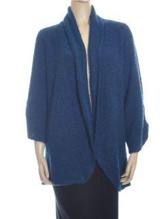 Karen Scott Boucle Cozy Blue Women Sweaters Sz 2X
