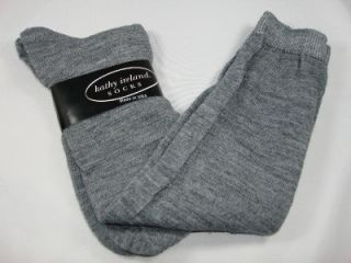 Kathy Ireland Made USA Knee High Gray Socks New