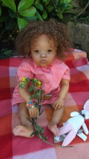 Custom Order for Black AA Toddler Baby Reborn Girl Ethnic Biracial