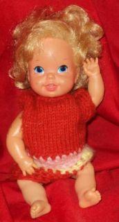 Mattel Baby Go Bye Bye 1968 Cute Waving Baby Doll Hard Plastic Vinyl