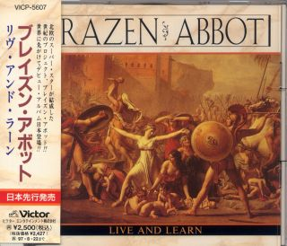 BRAZEN ABBOT LIVE AND LEARN VICP5607 1995 VICTOR JAPAN CD /w OBI Glenn
