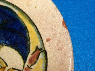 RARE Henry Varnum Poor Crow House Portrait Art Pottery Studio Plate