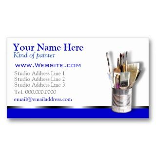 Painters Business Cards. Great for Any style painter. A clear profile
