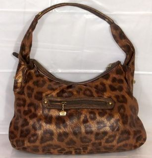 Kathy Van Zeeland Handbag Cheetah Spotted Buckle Pocket