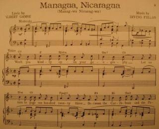 Managua Nicaragua Sheet Music Kay Kyser 1946 Vintage Nice O