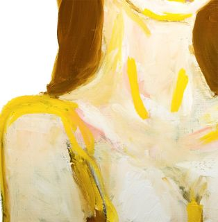 Kate Moss Portrait Original French Oil Painting Modern Fine Art Neal