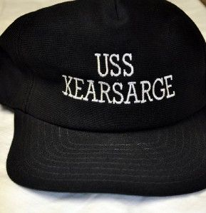 Vintage US Navy USS Kearsarge Ballcap Ball Cap Uniform Hat