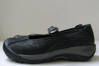 130 Keen Black Leather Pro Work Walking Shoes Excellent Womens Sz 8 5