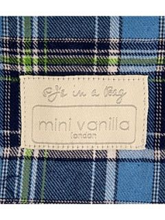 Mini Vanilla Boy`s traditional cotton check pyjamas Blue