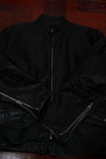 Vtg 60s Kehoe Cafe Racer Black Steerhide Leather Motorcycle Jacket