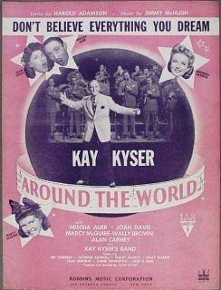 Kay Kyser DonT Believe Everything You Dream Adamson McHugh Around The