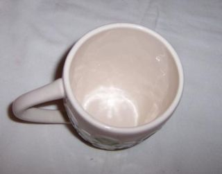 Starrbucks 2009 Blue Green Scallop Design Coffee Cup Mug