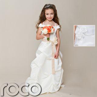 Girls Keira Ivory Formal Dress Bridesmaids Dress Flower Girl Dress 2
