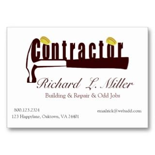 Constructing Contractor Business Card Templates