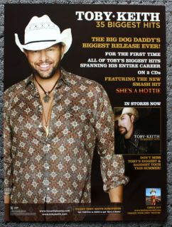 Toby Keith Promotional Poster Collectible Greatest Hits