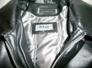 Mens XLD Genuine Leather Bomber Jacket Size XL
