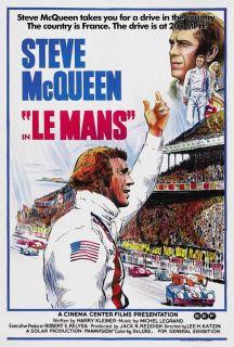 Le Mans Movie Poster 27x40 Steve McQueen Elga Andersen Ronald Leigh