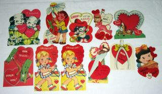 Lot of 36 Vintage Childrens Valentines Day Cards