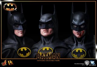 HOT TOYS DX 09 1989 BATMAN MICHAEL KEATON TIM BURTON + BAG READY IN