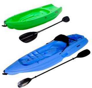 The Lifetime kayak combo pack includes one 8 adult blue kayak with