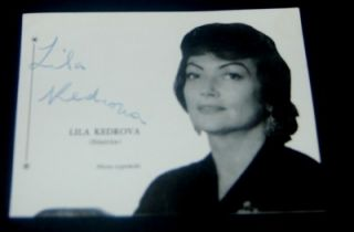 Greek Oscar Winning Actress Lila Kedrova Signed Page Nice Print