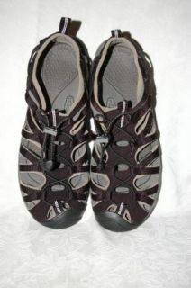 Keen Whisper Black Gray Nylon Sport Sandals Womens 11