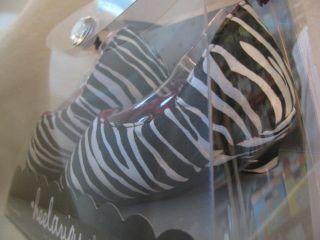 new KAYLA ZEBRA PRINT HEELARIOUS BABY HIGH HEEL SHOES infant 0 6mo