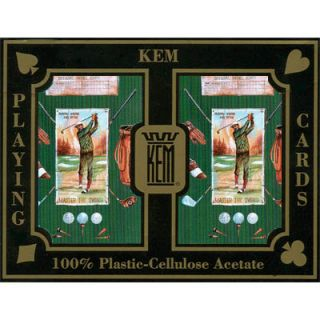 KEM Plastic Playing Cards Canasta Green Golf Bridge Reg