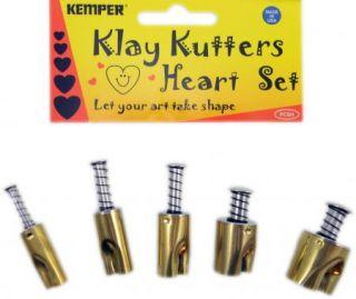 Kemper Clay Cutter Cookie Cutter 5 PC Set Hearts