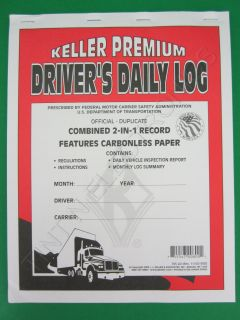 JJ Keller 705LD Two in One Drivers Daily Log Book with Detailed Dvir