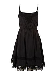 Cutie Cutie crochet detailed dress Black